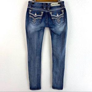 Rock Revival Ashley Skinny Blue Jeans Size 27